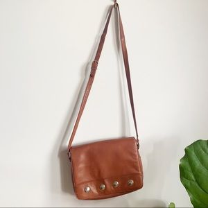 Vintage Collectif Brown Leather Crossbody Bag